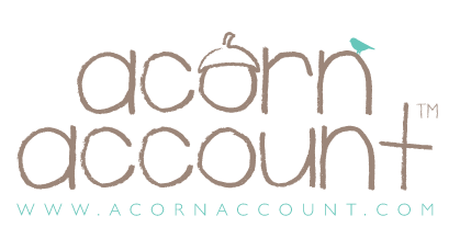 The logo for Acorn, a prepaid card provider.
